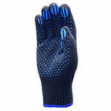 Перчатки х/б с ПВХ 5 нитей черные